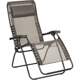 Lafuma Mobilier RSXA Clip Relax Chair with Cannage Phifertex, graphite-basalte
